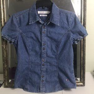 Tops - Tommy Hilfiger vintage button up denim shirt Sz M